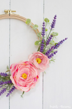 How-to-make-a-Embroidery-Hoop-Spring-lavender-Wreath-craft-for-the-Spring
