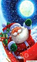 Santa waving image